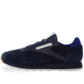 Tenis Reebok Cl Leather Sm - Bs7799 - Azul Marino - Hombre
