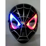Máscara Luz Led Avengers Spiderman Negro Hombre Araña Venom