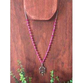 Collar Candelabro Vintage Con Cristales Swarovski Rosa Pinup