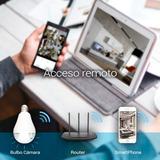 Camara Wifi 360 Luz Real, Espia 1.3 Mp App, Nocturna