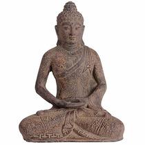 Escultura Buda De Pedra Para Jardim 30 Cm - Arte Bali