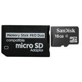 Adaptador Microsd Memory Stick Pro Duo Micro Sd Frete Barato