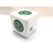 Powercube Original 5 Tomas Con 2 Puertos Usb