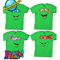 Playera O Camiseta Tortugas Ninja Todas Las Tallas!!
