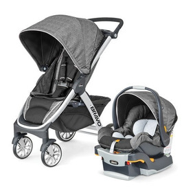 Chicco Carriola Bravo Travel System Avena, Color Gris