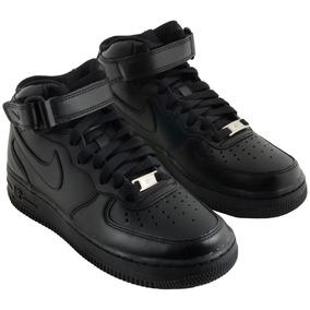 Tênis Nike Air Force 1 Mid Feminino Preto Botinha Original!