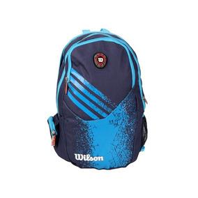 Mochila Esportiva Azul Marca Original Wilson 100% Poliéster