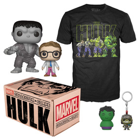 Kit Accesorios Coleccionables Box Marvel Hulk Small Funko