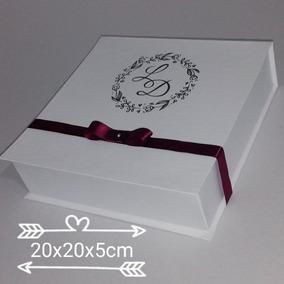 Caixa Convite E Lembrança Padrinhos 20x20x5 Pct 10uni