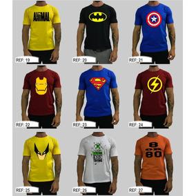 4 Camisetas Treino Academia Musculação Algodão Blusa Camisa