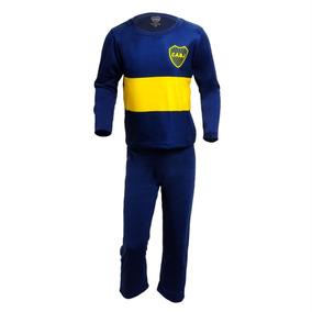 Pijama Sublimado Niños Boca Juniors