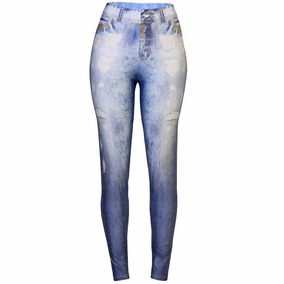 Calça Legging Jeans Colcci Fitness Roupa Academia