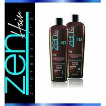 2 Kits Escova Progressiva Zen Hair (4 X 1 Litro) Zuper Z