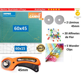 Kit Base De Corte 60x45 + Cortador 45 +regua 60x15 Patchwork