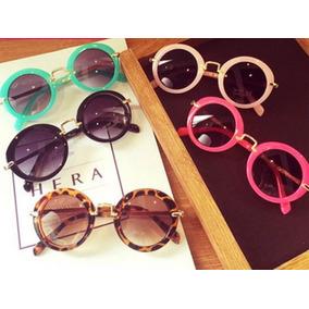 Óculos De Sol Infantil Redondo E Aviador Várias Cores