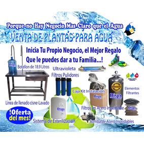 Plantas Purificadoras De Agua Llenado Y Lavado Compactas