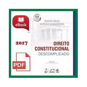 Direito Constitucional Descomplicado 2017 Livro Digital