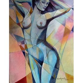 Pintura Al Óleo Estilo Expresionista Desnudo Mujer 2016