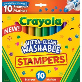 Crayola 10 Cores Canetinhas Laváveis Com Carimbo Embutido
