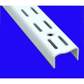 Riel P/mensula Estanteria 2mt Super Reforzado Doble Enganche