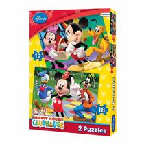 2 Rompecabezas Puzzle 12 Y 18 Piezas Mickey Original