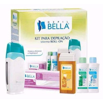 01 Kit Depilação Cera Sistema Roll-on Depil Bella + 12 Rolon