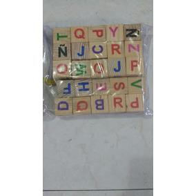 Material Didáctico, Cubos Del Alfabeto En Mayúsculas