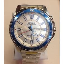 Reloj Casio Estandar Mtd-110d-7 Iluminator Día Y Fecha Wr50m