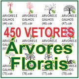 450 Arquivos Cdr De Árvores E Florais - Ótimo Para Ploter