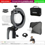 Godox Stype S2 + Softbox 60x60 P/ V1 Ad200 Ad400 Pro Etc* Np