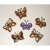 Figuras Fibrofacil Mariposas Caladas Mdf X 60 Unidades.