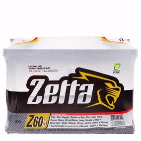 Bateria Zetta 60ah Modelo Z60d - Uno, Palio, Corsa E Outros