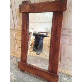 Espejos rusticos espejos con marco de madera en mercado for Marcos para espejos de madera rusticos