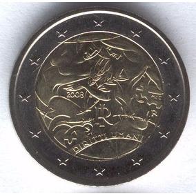 Italia 2008 Moneda 2 Euros Sin Circular Derechos Humanos