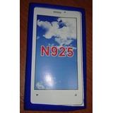 Funda Tpu Nokia Lumnia 925 Celeste Silicona