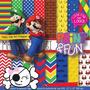 Kit Imprimible Pack Fondos Mario Bross Clipart 13