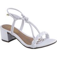 Sandalia Feminina Sapato Salto Baixo Anabela Moda Conforto