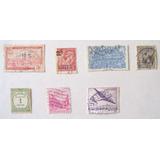 7 Estampillas Antiguas Algeria, Guyana , Andorra 1924 -1947