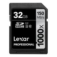 Tarjeta Sd Clase 10 Memoria Sdxc Lexar 32 Gb 1000x 150mb/s