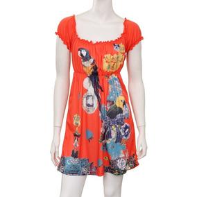 Vestido Para Dama Color Coral Mod A1670