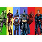 Painel Lona Fosca Cidade Super Herois (vg23) 3,00 X 2,00