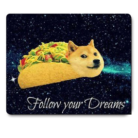 Doge In Taco Chicken Rolls Flying Across The Galaxy Space Fl