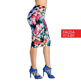 Falda Cklass Multicolor 974-89 Otoño Invierno 2017 Nueva
