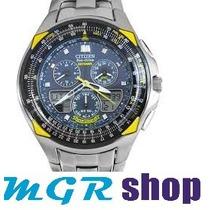 Relógio Citizen Eco Drive Skyhawk Blue Angels Jr3090-58m