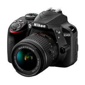 Camara Nikon D3400 Reflex Kit Lente 18-55mm 24mp Hd Promo