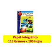 Papel Fotográfico Brillante Glossy 115 Gramos X 500 Hojas