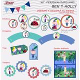 Kit Imprimible Personalizado Cumpleaños Ben Y Holly Nene