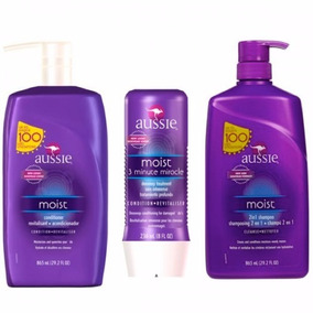 Kit Aussie Moist Shampoo Cond 865ml 3 Minute 236ml