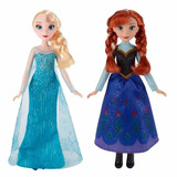 Muñecas Disney Frozen Originales Elsa/anna Hasbro Juguetes
