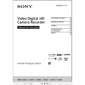 Manual Em Português Sony Hdr-cx450